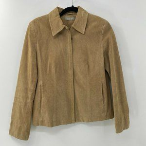 Kate Hill Genuine Suede Leather Jacket sz 8